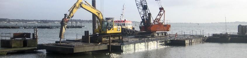 crawler cranes marine work